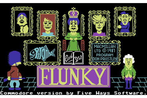 Flunky (1987) by Five Ways Software C64 game