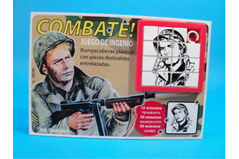 COMBAT! TV SERIES * Sgt SAUNDERS * VIC MORROW SLIDE PUZZLE ...