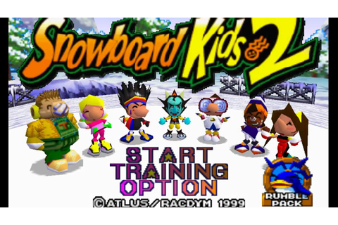 N64 - Snowboard Kids 2 - GamePlay [4K] - YouTube
