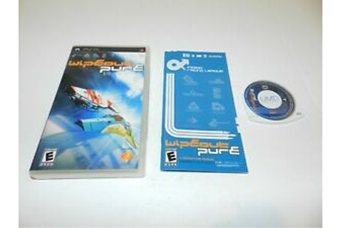 Wipeout Pure Sony PSP Playstation Game Complete CIB ...