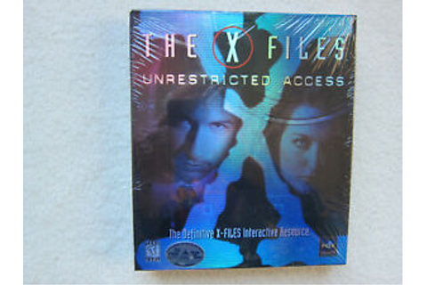 The X-Files Unrestricted Access - Windows 95 CD-ROM PC ...
