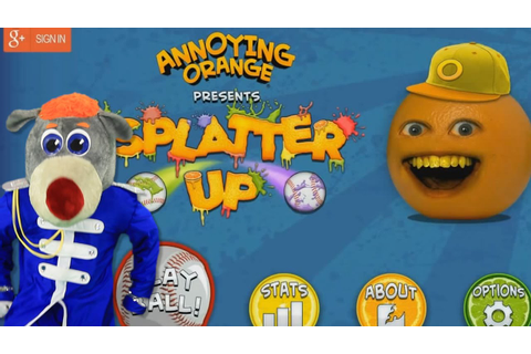 Annoying Orange Splatter Up! Android Bear GamePlay - YouTube