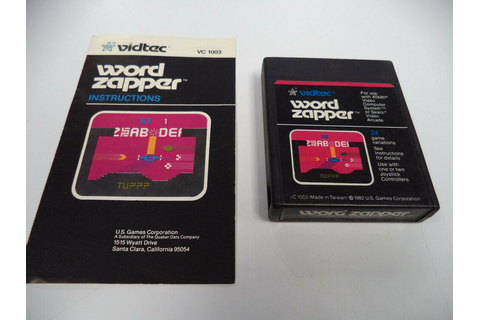 Word Zapper ATARI 2600 Game Cartridge with Instruction ...