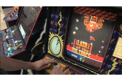 Classic Game Room - JOUST 2: SURVIVAL OF THE FITTEST arcade machine ...