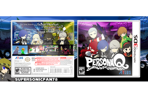 Persona Q Shadow of the Labyrinth Nintendo 3DS Box Art ...