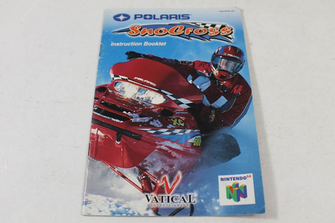 MANUAL - POLARIS SNOCROSS - NINTENDO N64