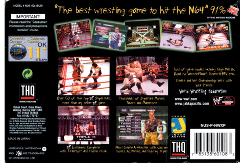 WWF Wrestlemania 2000 (1999) Nintendo 64 box cover art ...