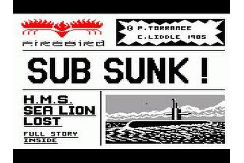 Subsunk Review for the Amstrad CPC by John Gage - YouTube
