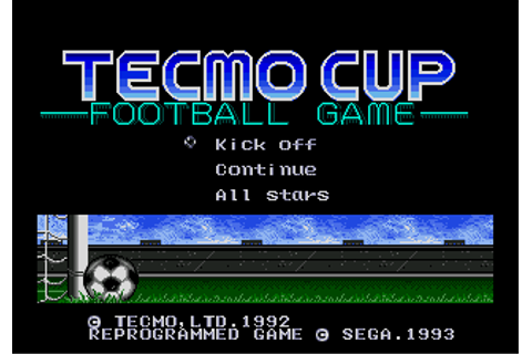 Tecmo Cup Football Game - Wikipedia