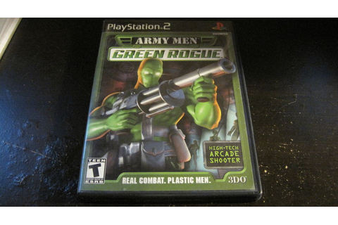 ARMY MEN GREEN ROGUE PLAYSTATION 2 PS2 VIDEO GAME COMPLETE ...
