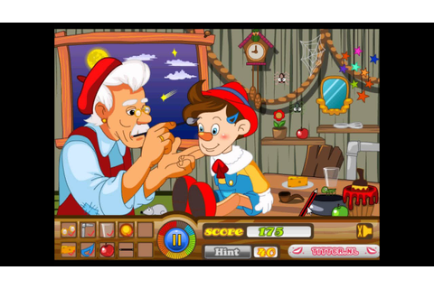 Pinocchio hidden objects - Puzzle Games - mary.com - video ...