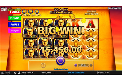 Ra & The Scarab Temple Slot ᐈ Claim a bonus or play for free!