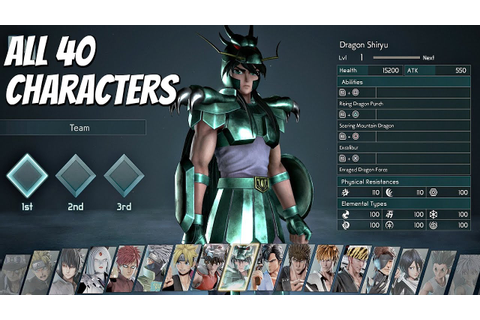 JUMP FORCE - All 40 Characters FULL ROSTER (Full Game ...