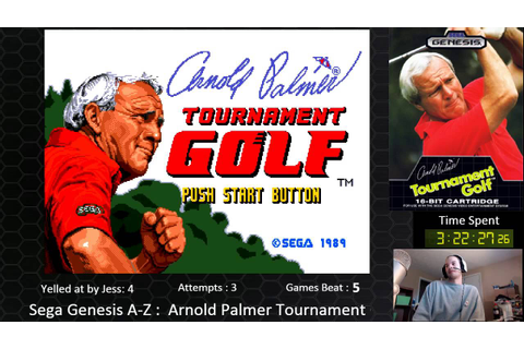 Sega Genesis A-Z : Arnold Palmer Tournament Golf (Journey ...