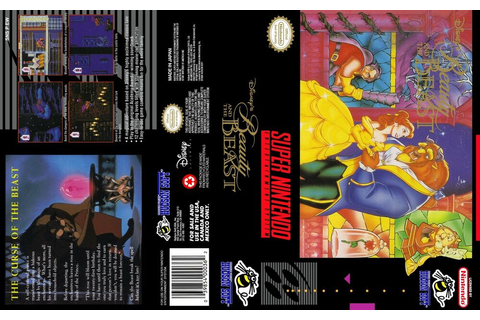 Beauty and the beast Super Nintendo Replacement SNES Box ...