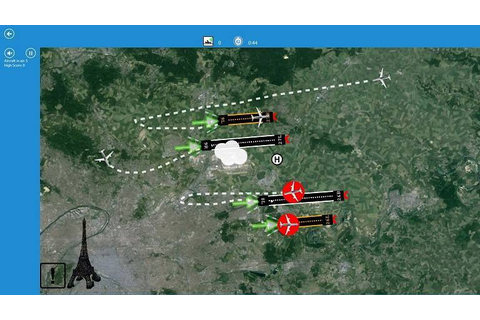 GeoPlane is a New Windows 8, 10 Air Traffic Control Game