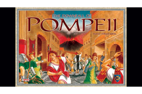 The Downfall of Pompeii - Board Game Playthrough - YouTube
