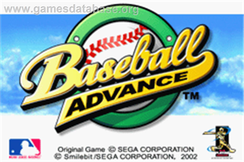 Baseball Advance - Nintendo Game Boy Advance - Games Database