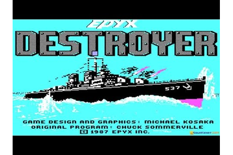 Destroyer gameplay (PC Game, 1986) - YouTube