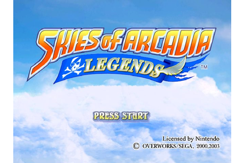 Skies of Arcadia Legends (2002) by Overworks GameCube game