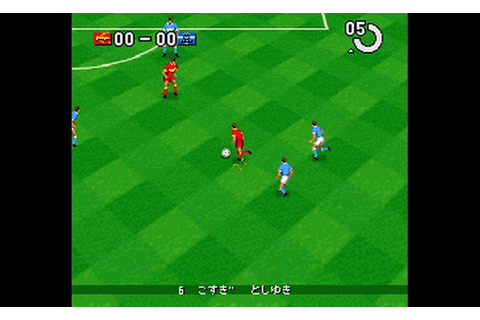 Play J.League Super Soccer '95 - Jikkyou Stadium (Japan ...
