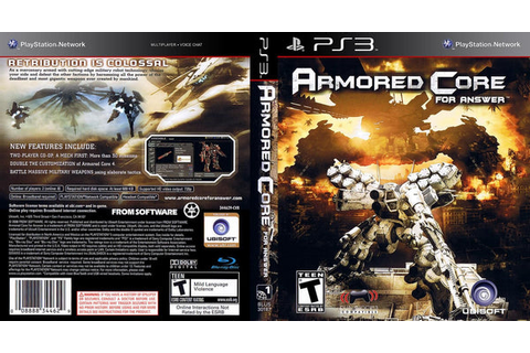 Armored Core: For Answer (Sony PlayStation 3, 2008 ...