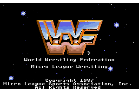 MicroLeague Wrestling (1987) by Microprose / Micro League ...