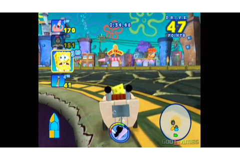 Spongebob's Boating Bash - Gameplay Wii (Original Wii ...