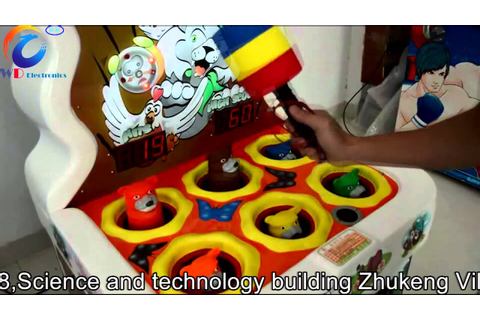hitting mouse amusement game machine - YouTube