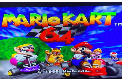 OEM Mario Kart Nintendo 64 N64 Authentic Original Video ...
