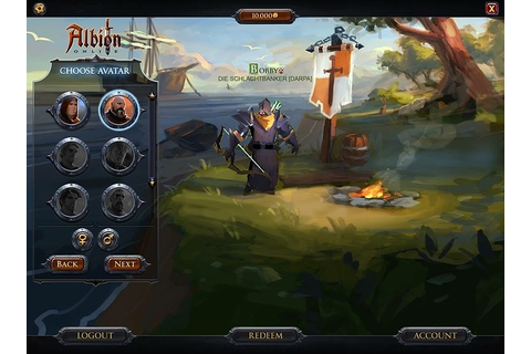 New Albion Online character selection screen - Gaming ...