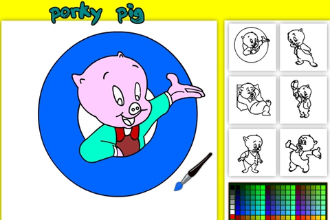 Porky Pig Online Coloring Game - Looney Tunes games ...