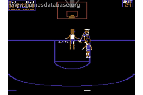 Dr. J and Larry Bird Go One on One - Commodore 64 - Games ...