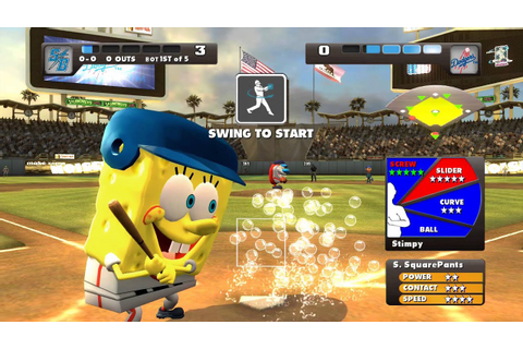 Nicktoons MLB Xbox 360 Kinect gameplay Dodger Stadium ...