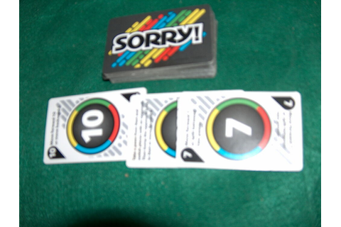 gray Sorry game drawing deck or cards replacement pieces ...