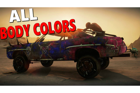Mad Max Game: All Body Colors for the Magnum Opus - YouTube