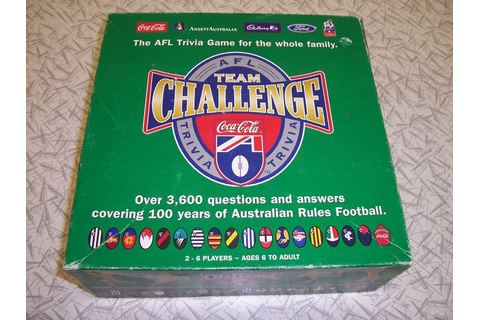 The AFL Trivia Team Challenge Board Game 1997 3600 ...