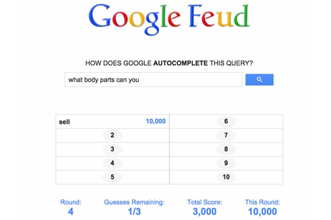 Google feud online game - Business Insider