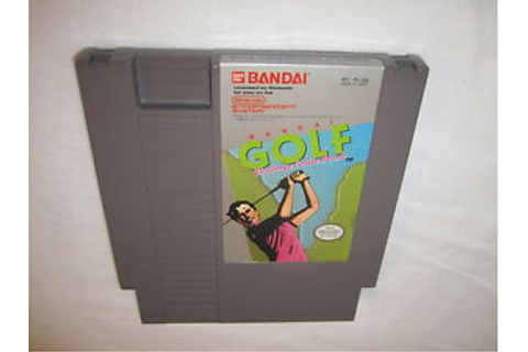 Bandai Golf: Challenge Pebble Beach (Nintendo NES) Game ...