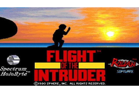Flight of The Intruder gameplay (PC Game, 1990) - YouTube