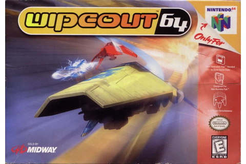 WipEout 64 (1998) Nintendo 64 box cover art - MobyGames
