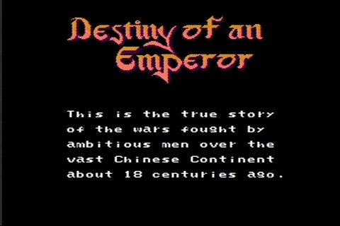The RPG Consoler: Game 17: Destiny of an Emperor (NES ...