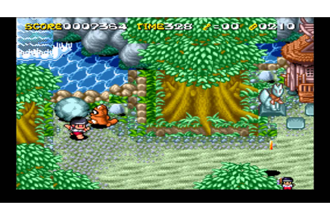 YBN Review: Pocky And Rocky 2 - SNES - YouTube