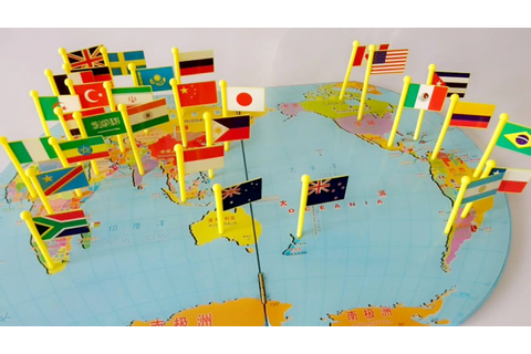 World Flags Pin on Map matching puzzle.. small flags ...