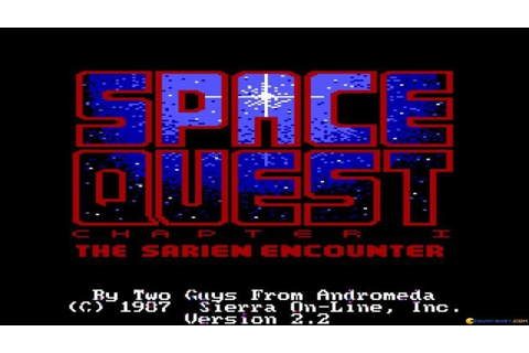 Space Quest - The Sarien Encounter gameplay (PC Game, 1986 ...