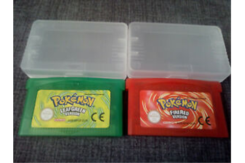LOT POKEMON VERT FEUILLE & ROUGE FEU FRENCH VERSION FOR ...
