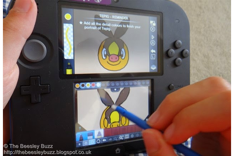 Like all Nintendo 3DS games, the Pokemon Art Academy can ...