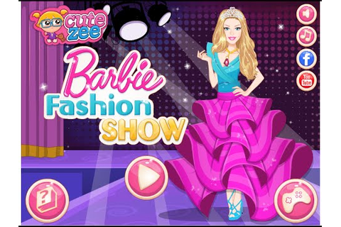 Barbie Dress Up Games Barbie Fashion Show Game - YouTube