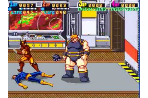 X-men (Arcade Game) - Nothing Moves the Blob! - YouTube