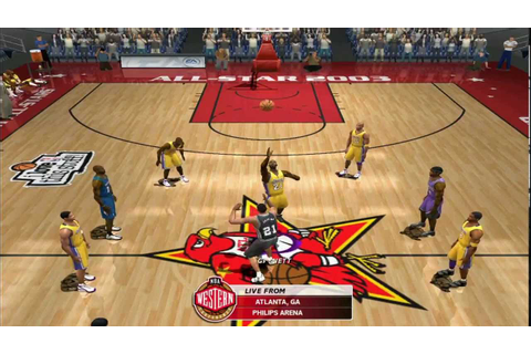 NBA Live 2003 Gameplay: Lakers VS Western All Stars - YouTube